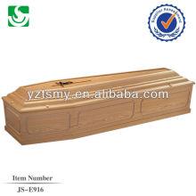 estilo tradicional com zinco cruzar para adulto caixão