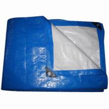 Cheap PE tarpaulin with plastic corner and aluminum eyelet