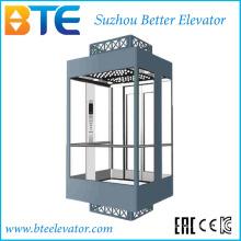 Kc gute Ansicht und gute Dekoration panoramische Aufzug mit Glaskabine