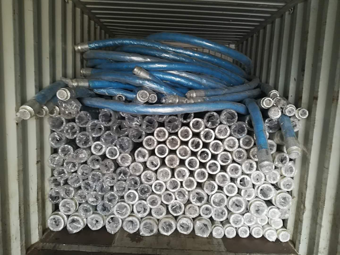 concrete pump rubber hose loading container