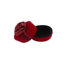 Unique Red Creative Velvet cajas para rosas Rose Ring Boxes for Sale