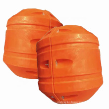 Deers yellow orange mdpe foam filled pipeline buoyancy pipe floats