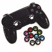 Cat Paw Silicone Analog Controller Thumb Stick Grips Cap Cover for Sony Play Station 4 PS4 Thumbsticks Game Accessories