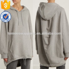 Sudadera con capucha gris de Casualwear OEM / ODM Manufacture Venta al por mayor de mujeres de la moda (TA7021H)