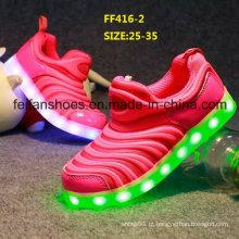 Últimas crianças piscando LED sapatos sapatos de desporto (ff416-2)