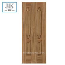 JHK HDFチーク木製のドアの皮膚のフロントドアのデザイン