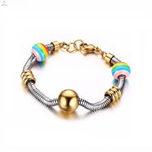 Faça seu próprio arco-íris Bridge Gay Pride Shop pulseira de aço inoxidável