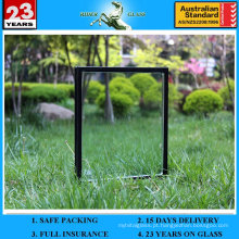 6 + 12A + 6mm Low-E Tempered Hollow Isolated Window Glass para janela