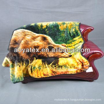 couverture de vison imprimé animal