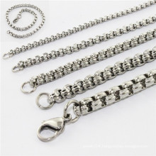 2014 fashion new design beauty stainless steel jewellery neckless and bracelet set