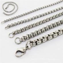 2014 moda novo design beleza jóias de aço inoxidável neckless e pulseira conjunto