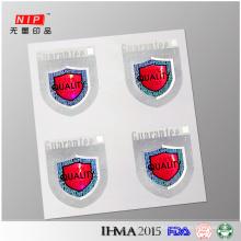 Qualidade 100% garantida de impressão da etiqueta de holograma genuíno de seguro