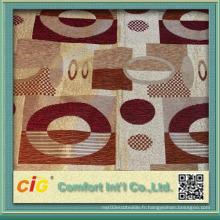 Chaise Jacquard en polyester de haute qualité Tissu d'ameublement Custom 145cm Largeur