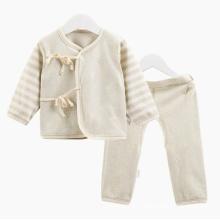 Conjunto de roupa interior de algodão orgânico Conjunto de pano de bebê