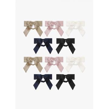 Orelhas de coelhinho fofinho scrunchie cabelo elástico elástico arco titular rabo de cavalo bobbles macio elegante para mulheres laços de cabelo com fita