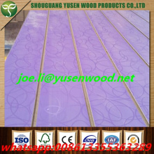 Texture Melamine Faced Slotted MDF Board, Groove MDF with Aluminum