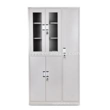 сталь кабинет шкаф со стеклянными дверцами и полками