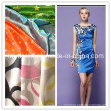 Impression polyester satiné pour la robe avec une bonne qualité