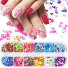 2021 Newest Amazon Hot Nail Art Decoration & DIY Crafting 3D Holographic nail art glitters Butterfly Nail Glitter