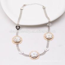 2015 NK012 Perlen-Ketten-Art- und Weisestrickjacke-Ketten-Diamant-lange Großhandelsstrickjacke-Ketten-beiläufige Art-lange Halskette