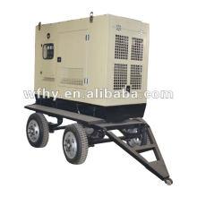 CE & BV Aprroved 100KW remolque con batería Generador Set