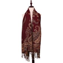 Heißer Verkaufs-Polyester-Schal-Winter Pashmina Art- und Weiseschal