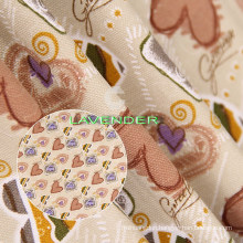 Sweet Heart Pattern 250GSM Woven Canvas Fabric