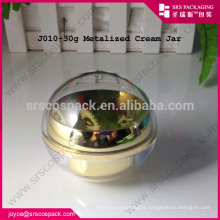 china golden luxury acrylic packaging design and clear plastic jar