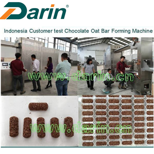 Oatmeal Chocolate Sereal Bar Molding Membentuk Mesin