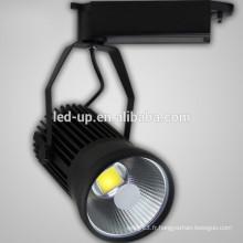 2700K-6500K Éclairage haute lumens led COB track light 30w 85V-265V AC