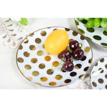 Gres de alta calidad China Juego de cena Plato de postre de hotel de cerámica