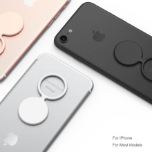 Support pour bagues en silicone avec gel pour iPhone qui touche un porte-bagues souple