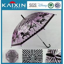 Kundenspezifischer umweltfreundlicher Plastik Poe Regenschirm