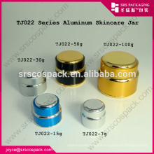 China 7g 15g 20g 30g 50g 100g 200g Round Cream Jar Aluminum Bottle Wholesale