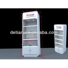 Expositor de exhibición comercial de aluminio con diseño moderno