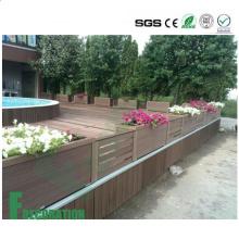 Revestimento composto plástico de madeira exterior da madeira WPC da categoria comercial