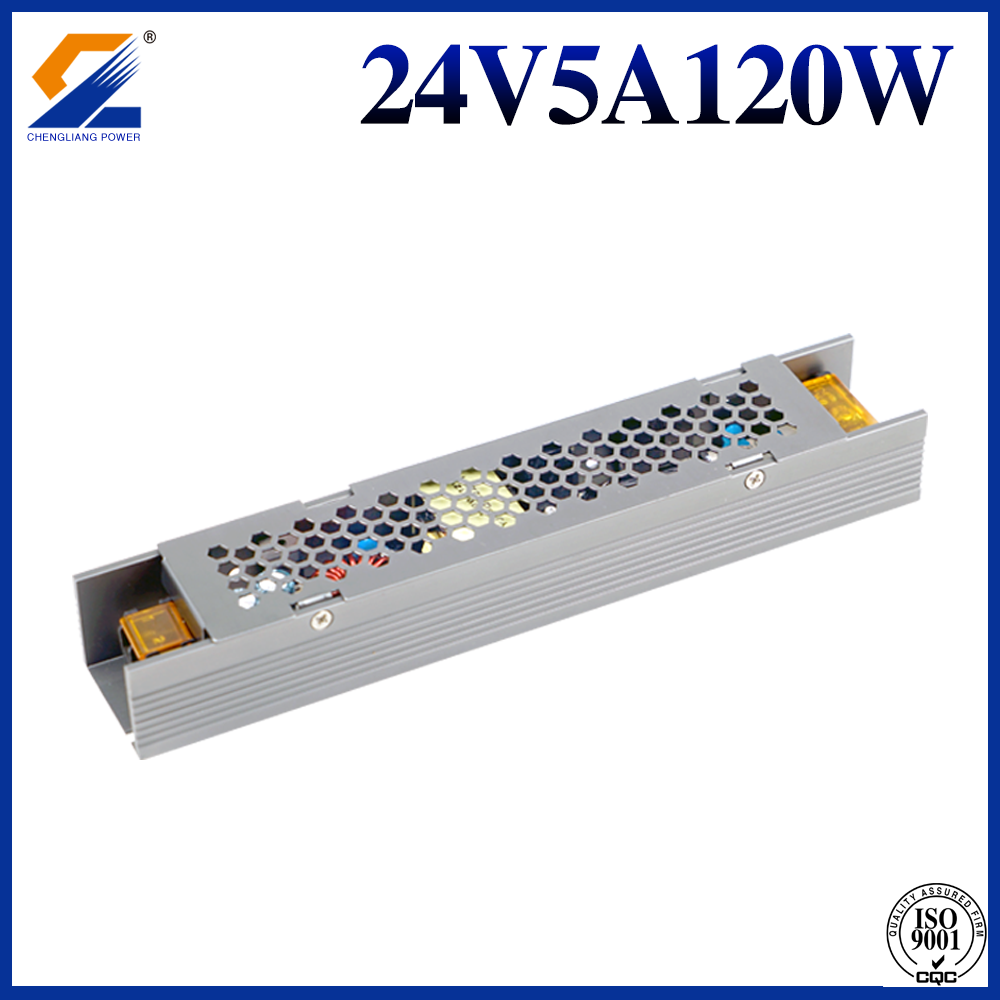 24V 5A 120W Slim SMPS For LED Strip Modules