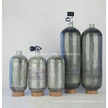 Cylindre enveloppé de fibre de carbone