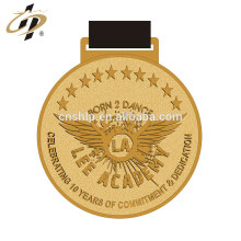 Druckguss-Zink-Legierung Gold benutzerdefinierte Metall Tanz Award Medaillen