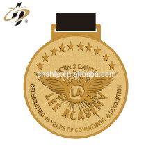 Die casting zinc alloy gold custom metal dance award medals