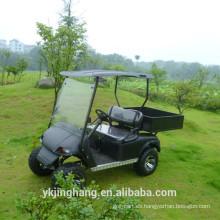Vehículo utilitario de gasolina negro barato con caja de carga para la venta