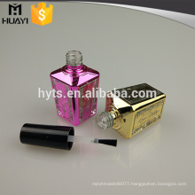 15ml custom made UV coating unique empty gel nail polish bottle