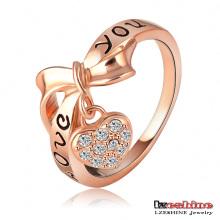 Te amo anillos del encanto del corazón de la letra (Ri-HQ1055-A)