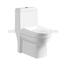 CB-9018 Hot sales Sanitary ware One Piece Lavatory WC cerâmico piso montado assento de vaso sanitário jato de água