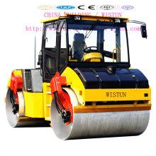 Maquinaria de construção dobro hidráulica completa do compressor do rolo de estrada do cilindro