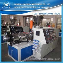 Conial Double Screw Plastic Extruder Making Machine