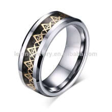 Logo vintage grabado anillo masónico, generoso logo masonic anillos de los hombres