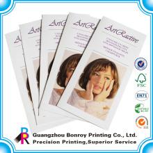 Alibaba top qualité personnalisé mode Pantone / CMYK impression brillant C2S art papier brochure esthétique design