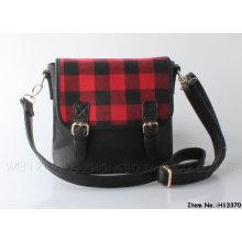2015 New Plaid Fashion Women Polgester/PU Handbag