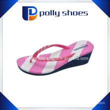 New Ladies Casual Stripe Wedge Heel Platform Foam Beach Sandals